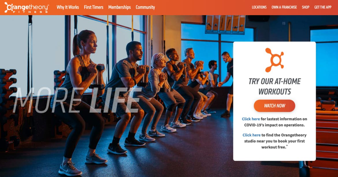 Orangetheory orange website