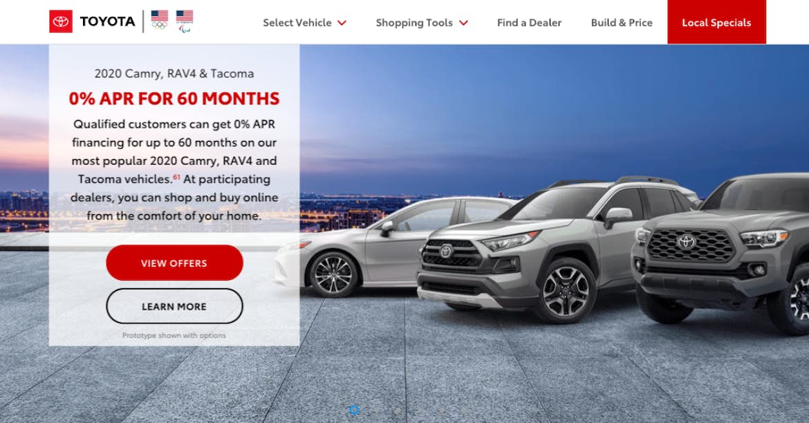 Toyota red website