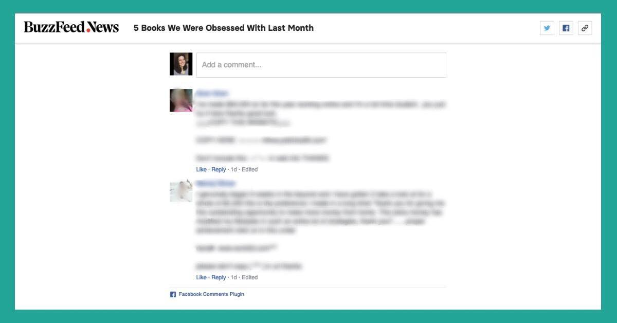 Facebook comments plugin on blog