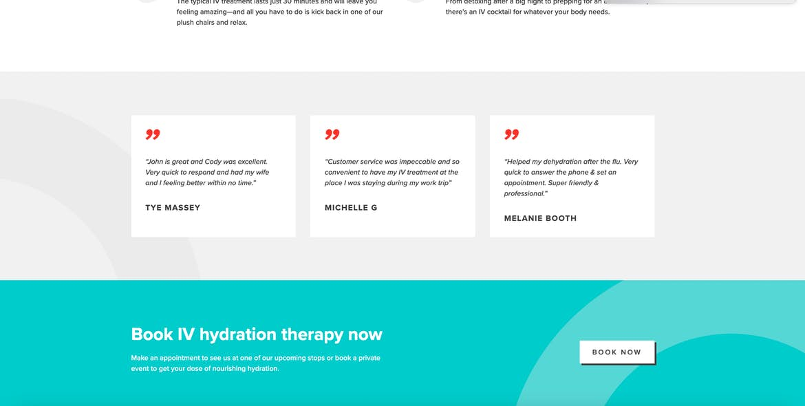 Oasis Hydration homepage customer reviews