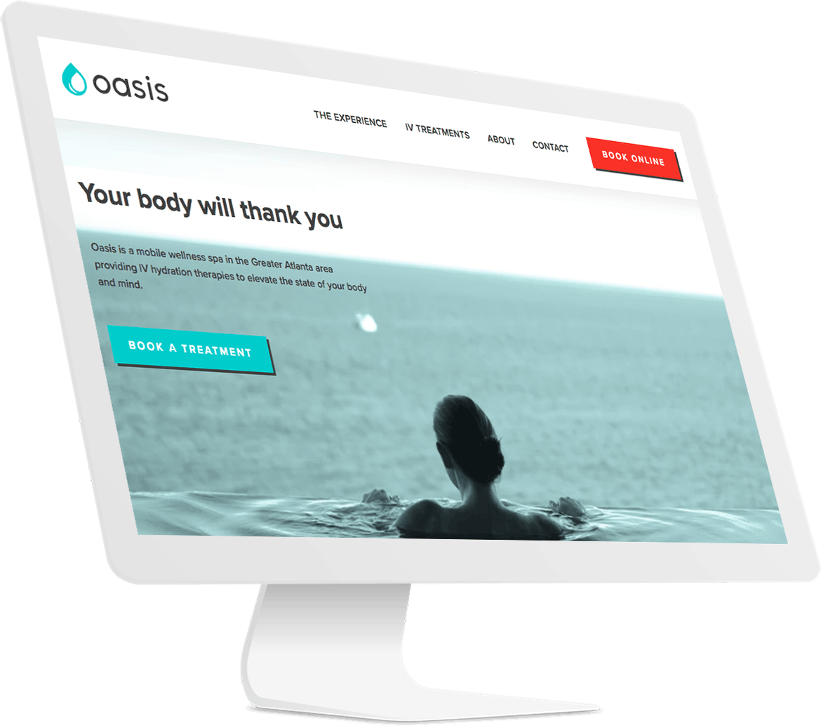 Oasis Hydration website