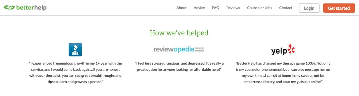 BetterHelp satisfied customers