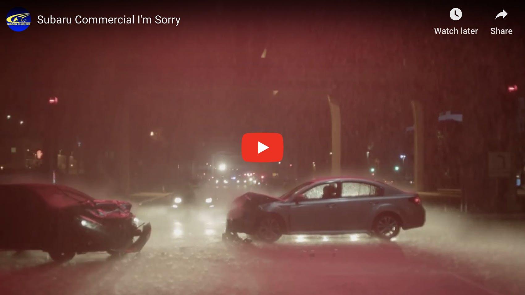 """Subaru Commercial """"I'm Sorry"""""""