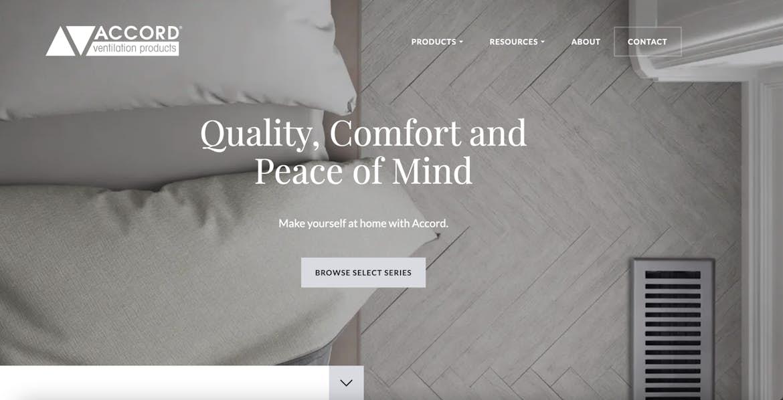 Accord Ventilation's homepage