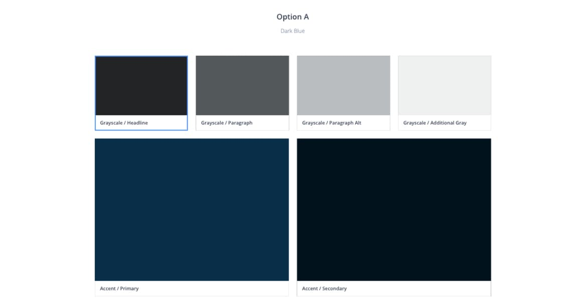 Sample color palette