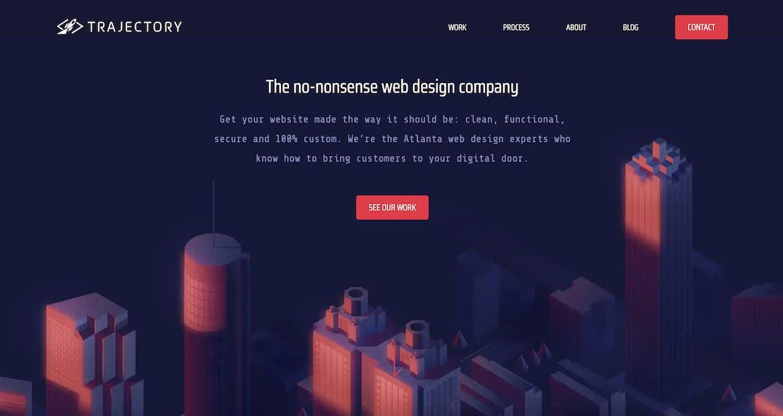 Trajectory's homepage