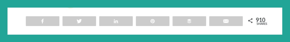 social sharing buttons with share counts