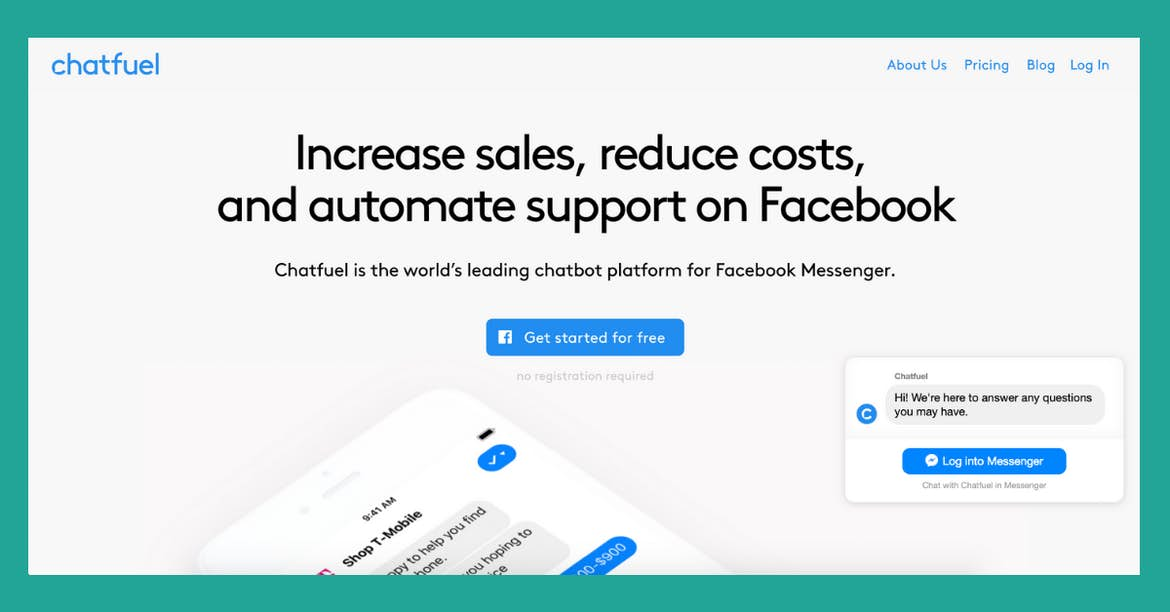 Facebook Messenger chatbot as customer support chat