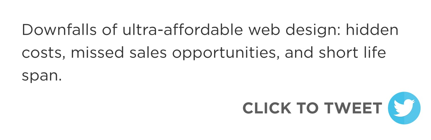 Click to tweet: An ultra-affordable website probably won't provide the results your small business needs