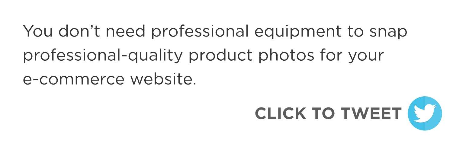 Click to tweet: you don't need professional equipment to take professional-quality photos