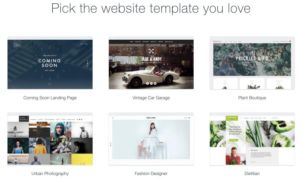 DIY website templates