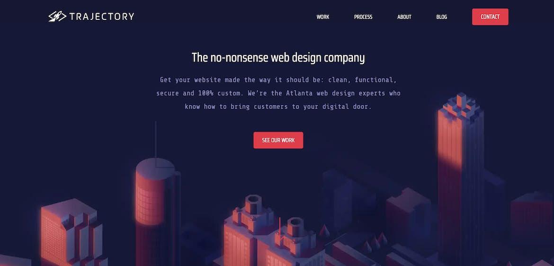 example of homepage navigation menu