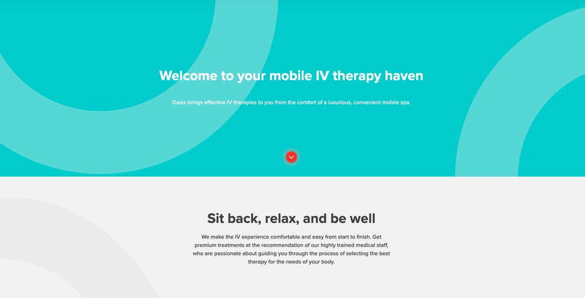 example of symmetry on a client website