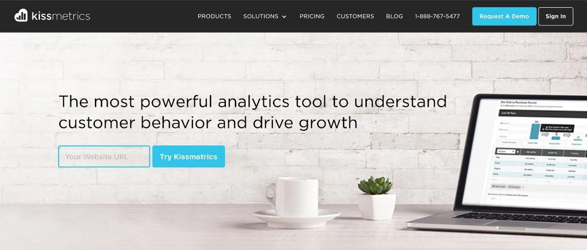 Kissmetrics makes bold claims about their product