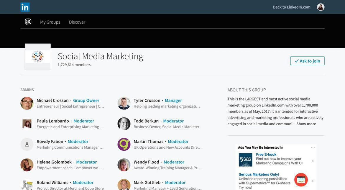 Use LinkedIn groups to connect with potential leads