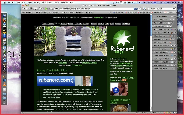 old website screenshot