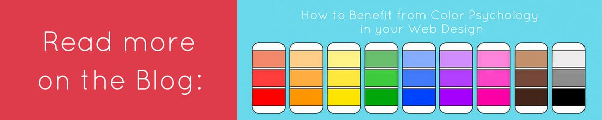 Read more how to benefit from color psychology in your web design