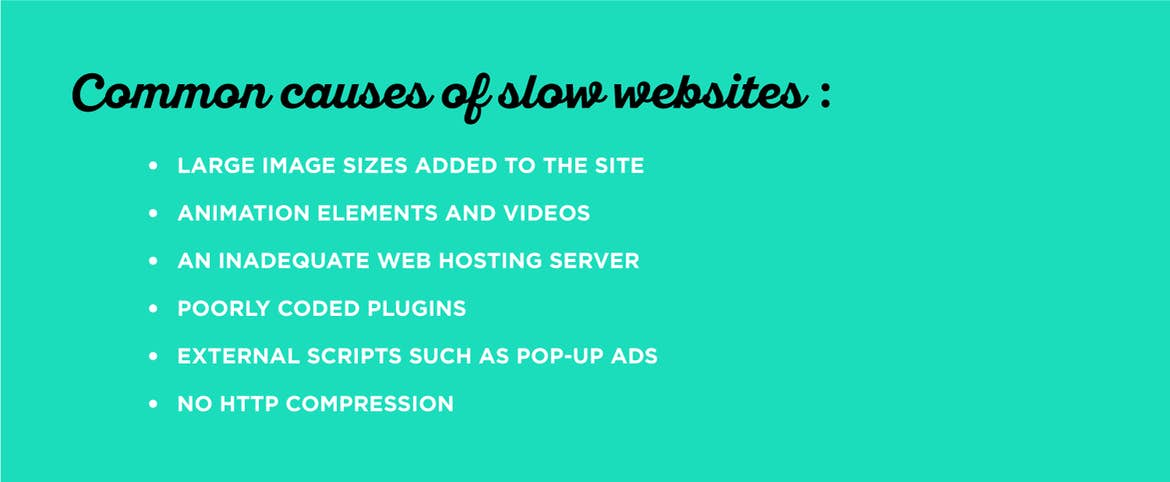 There are many causes of slow websites