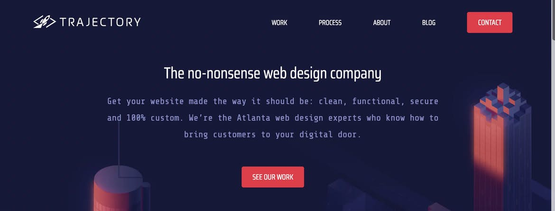 Trajectory Web Design hero image.