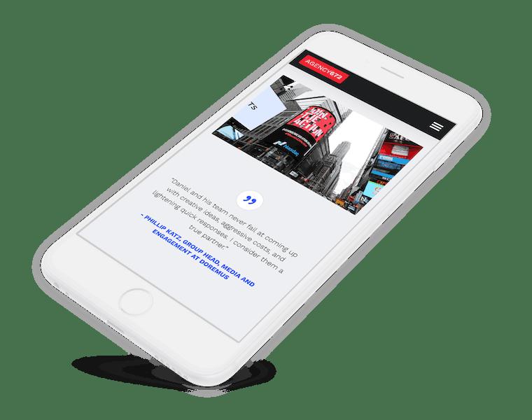 Website design for a media company