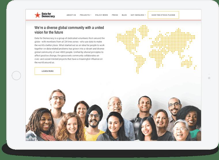 Website redesign for Data for Democracy
