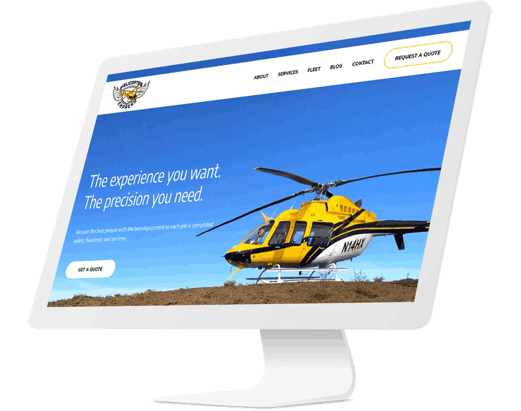 Propelling a helicopter business forward with a new website