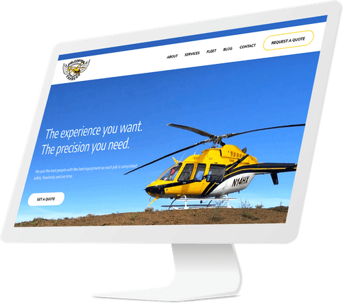 Helicopter website design