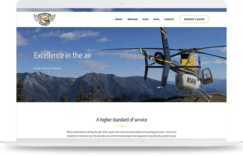 Macbook with web design