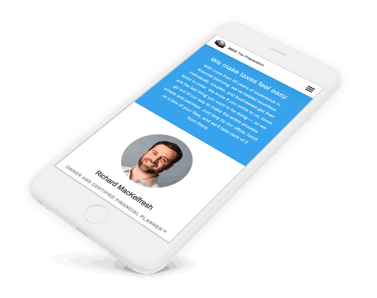 Tax preparation firm website design