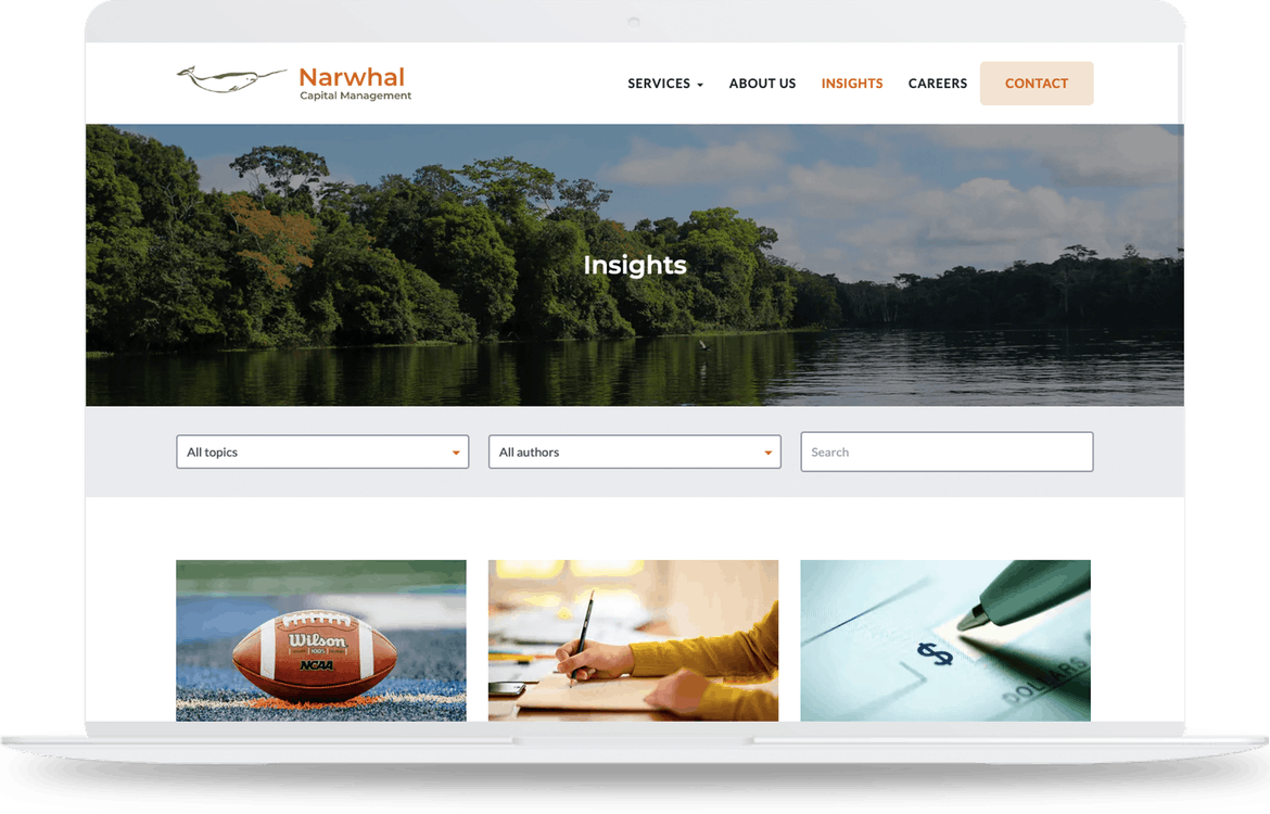 Narwhal blog page