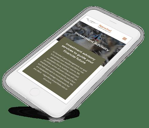 iPhone website design