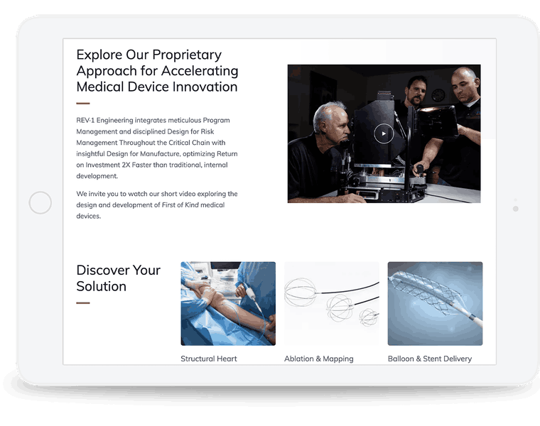 Website design for an engineering company