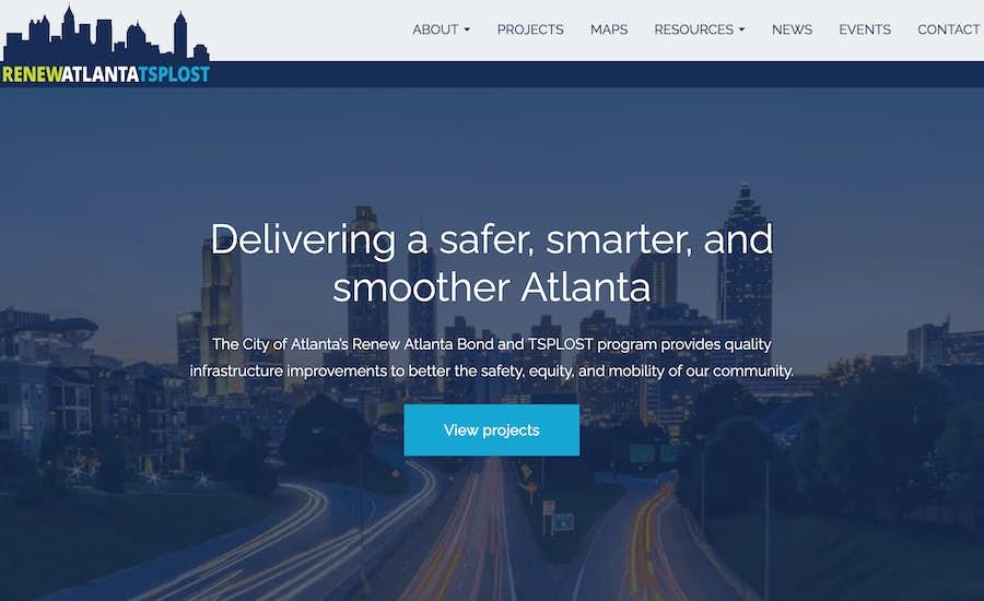 Renew Atlanta-TSPLOST website design