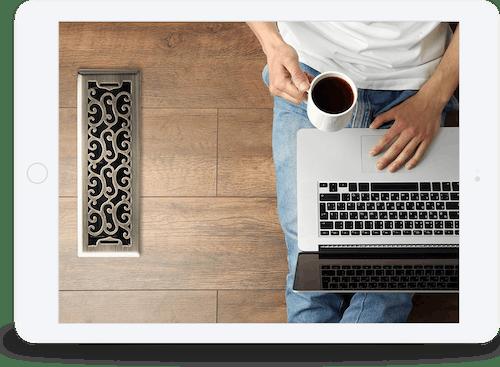 Website design on a tablet