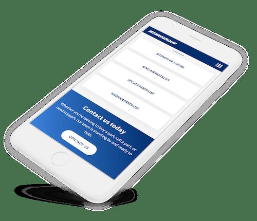 Avgroup website on iPhone