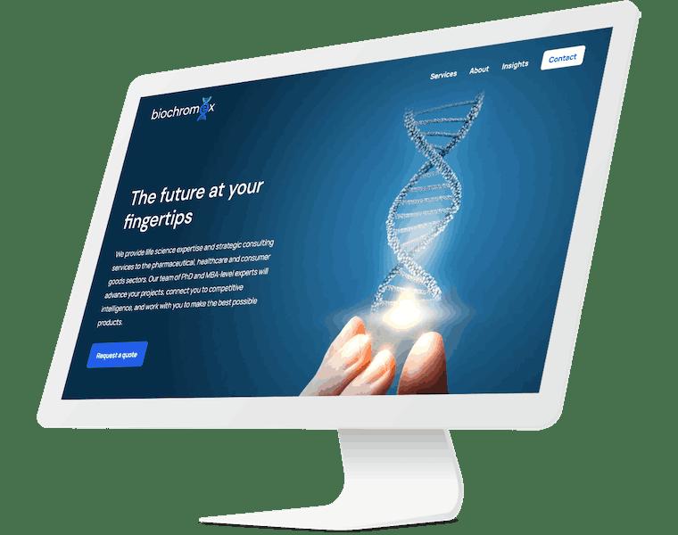 Website design for Biochromex
