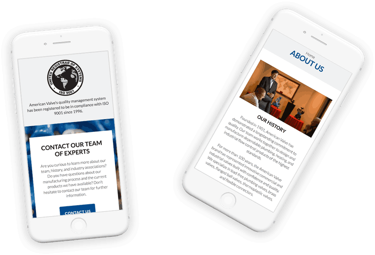 We worked with American Valve, a leading commercial and industrial manufacturer, to modernize every aspect of their web presence.