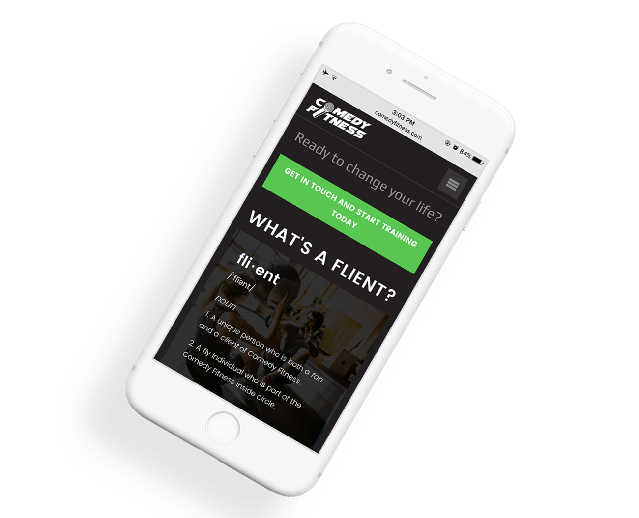 We created a website that's optimized for mobile devices