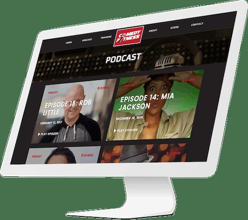 Responsive website design for fitness podcast