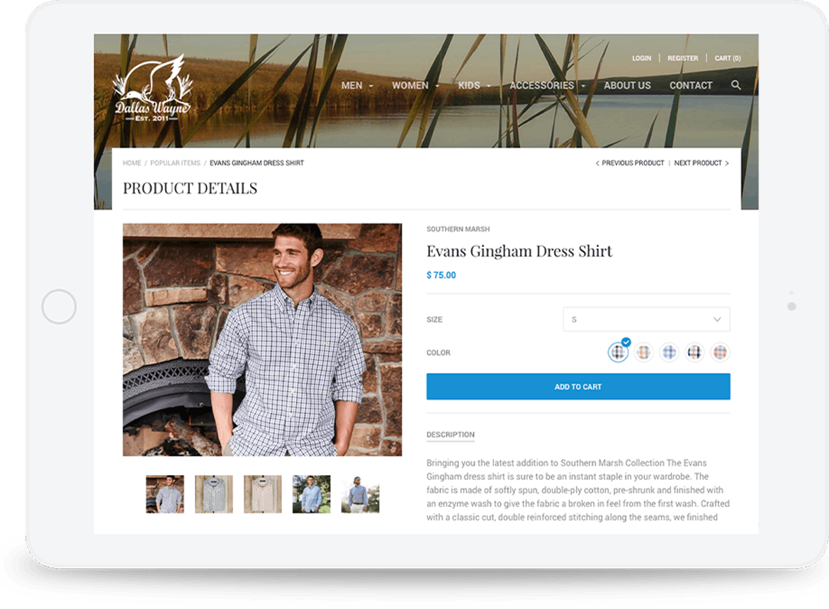 We created a user-friendly e-commerce website