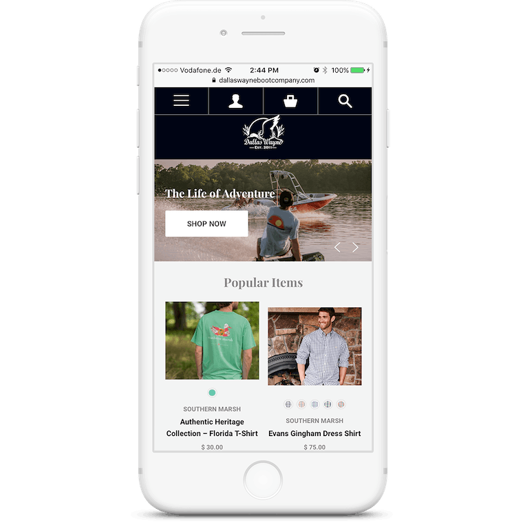 The redesigned website is optimized for mobile devices