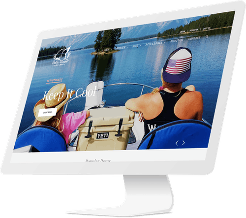 Responsive website design for clothing company