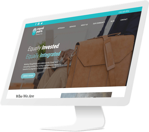 Responsive website design for consulting company