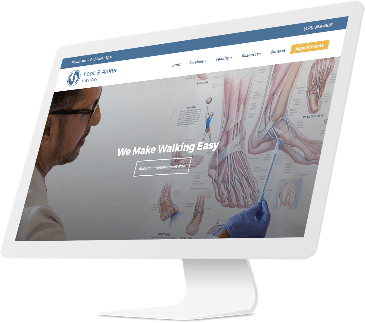 Website design for Foot and Ankle Center