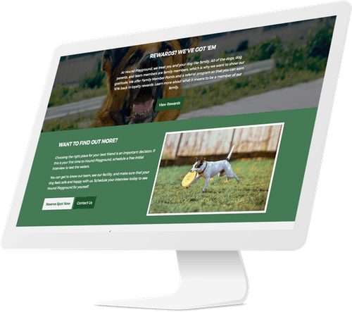 Responsive website design for dog day care