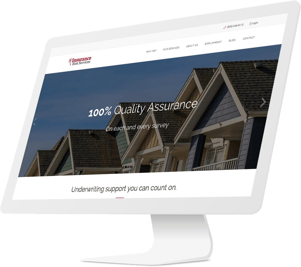 Responsive website design for insurance inspection company