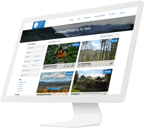Responsive website design for real estate company