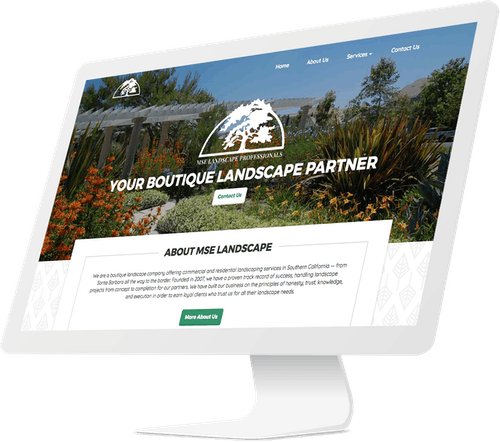 Responsive web page for landscaping company