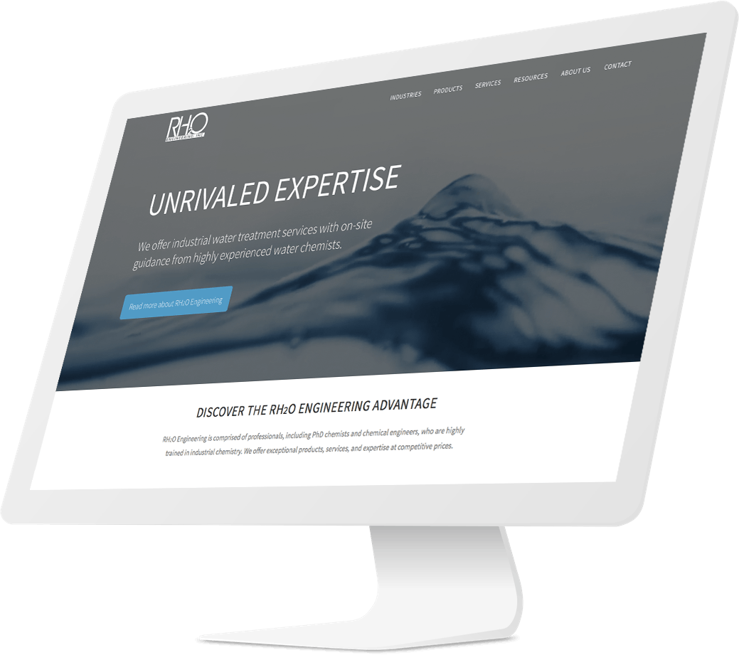 Responsive website design for water treatment company