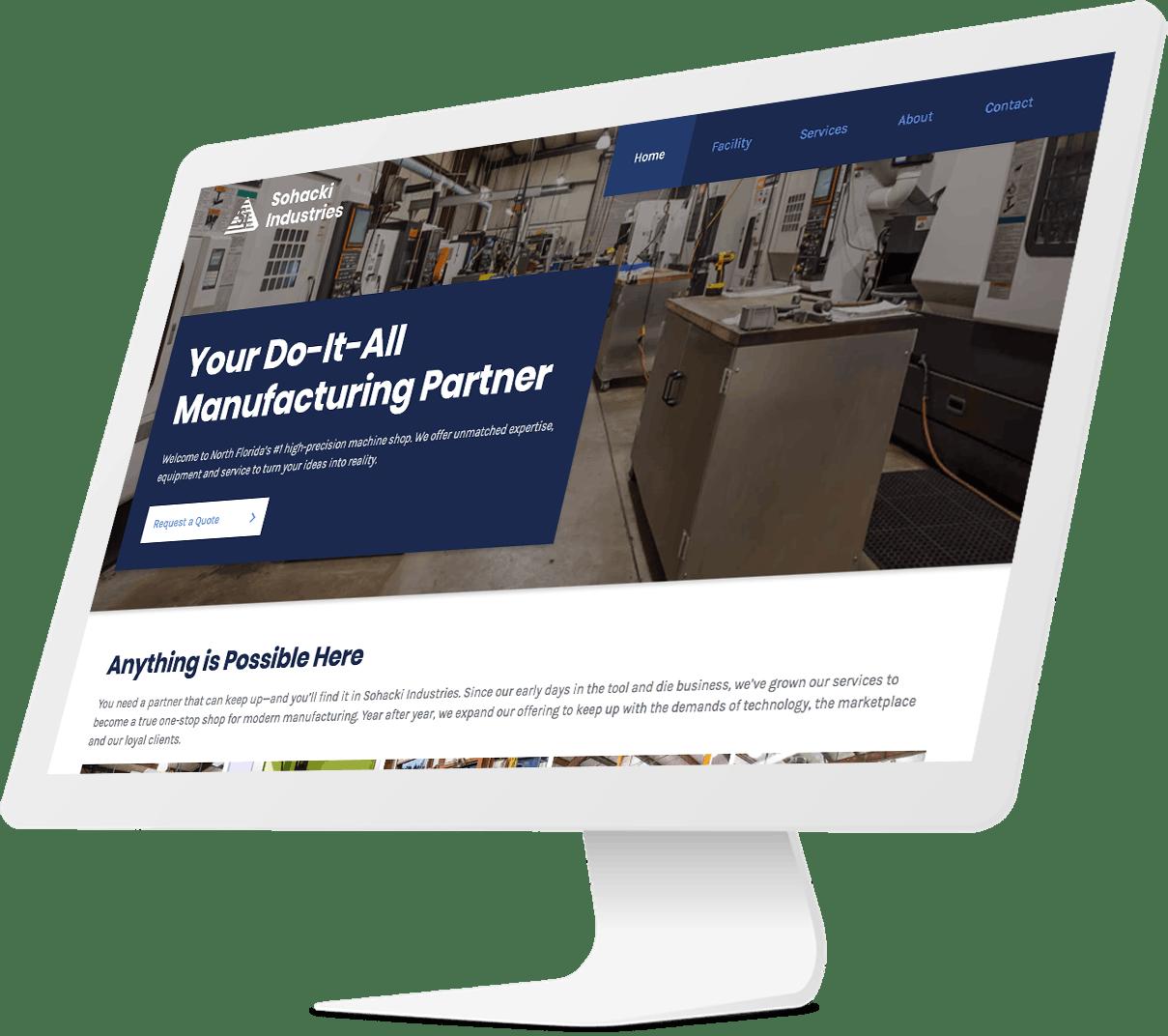 Sohacki Industries website design